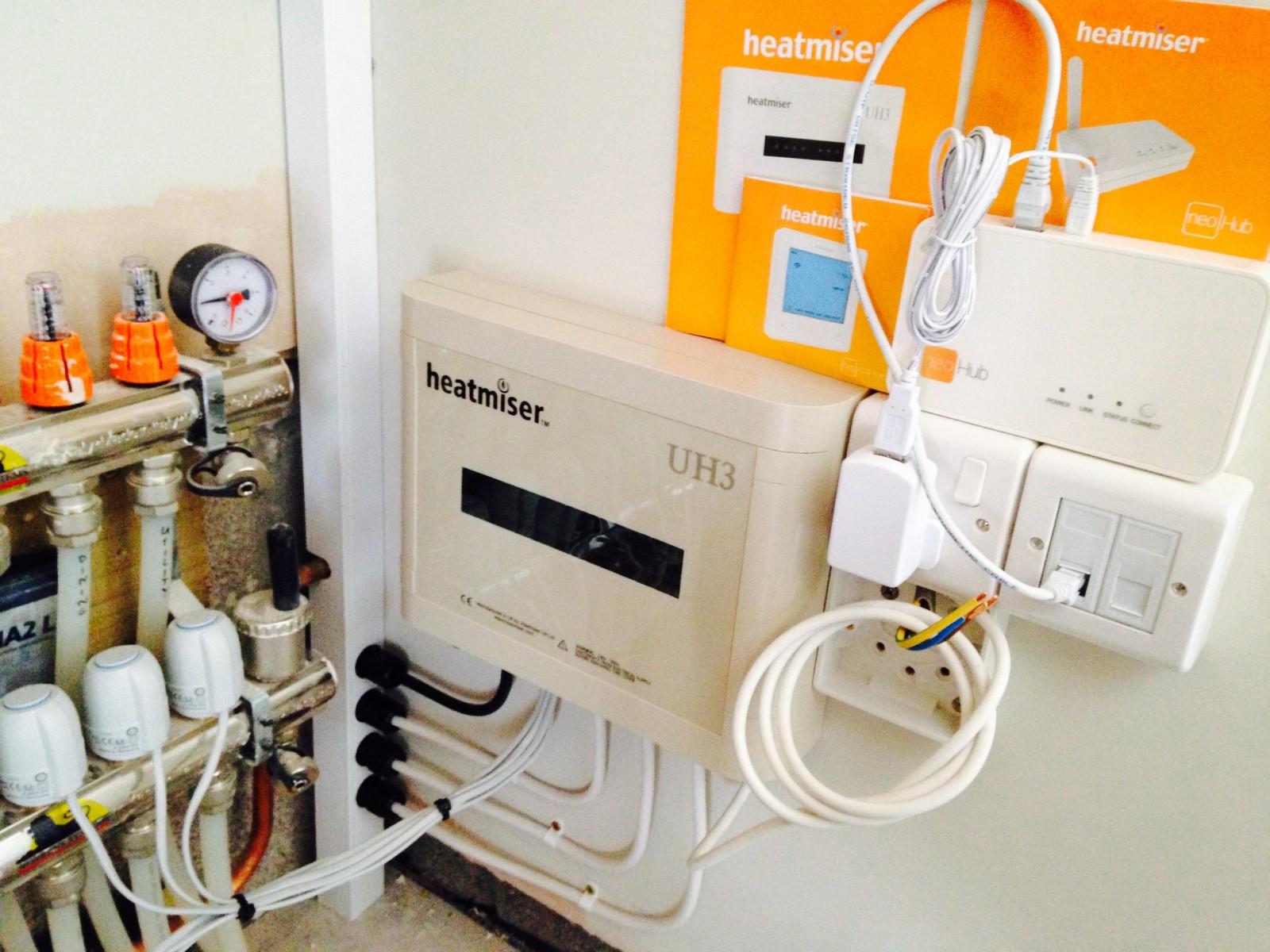 Heatmiser under floor heating system installer